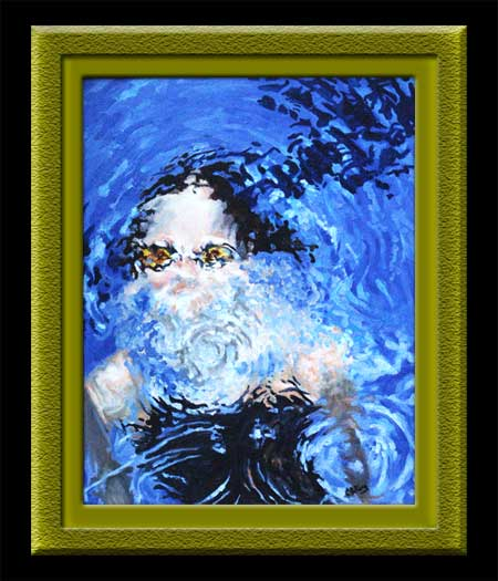 Emerging Swimmer an oil painting by CBCarey